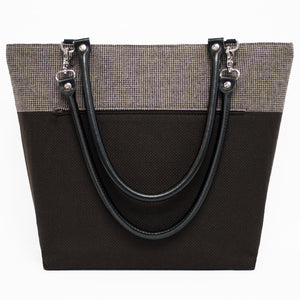 Coffee Brown Wool Shoulder Bag