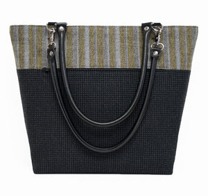 Stripes and Checks Wool Shoulder Bag