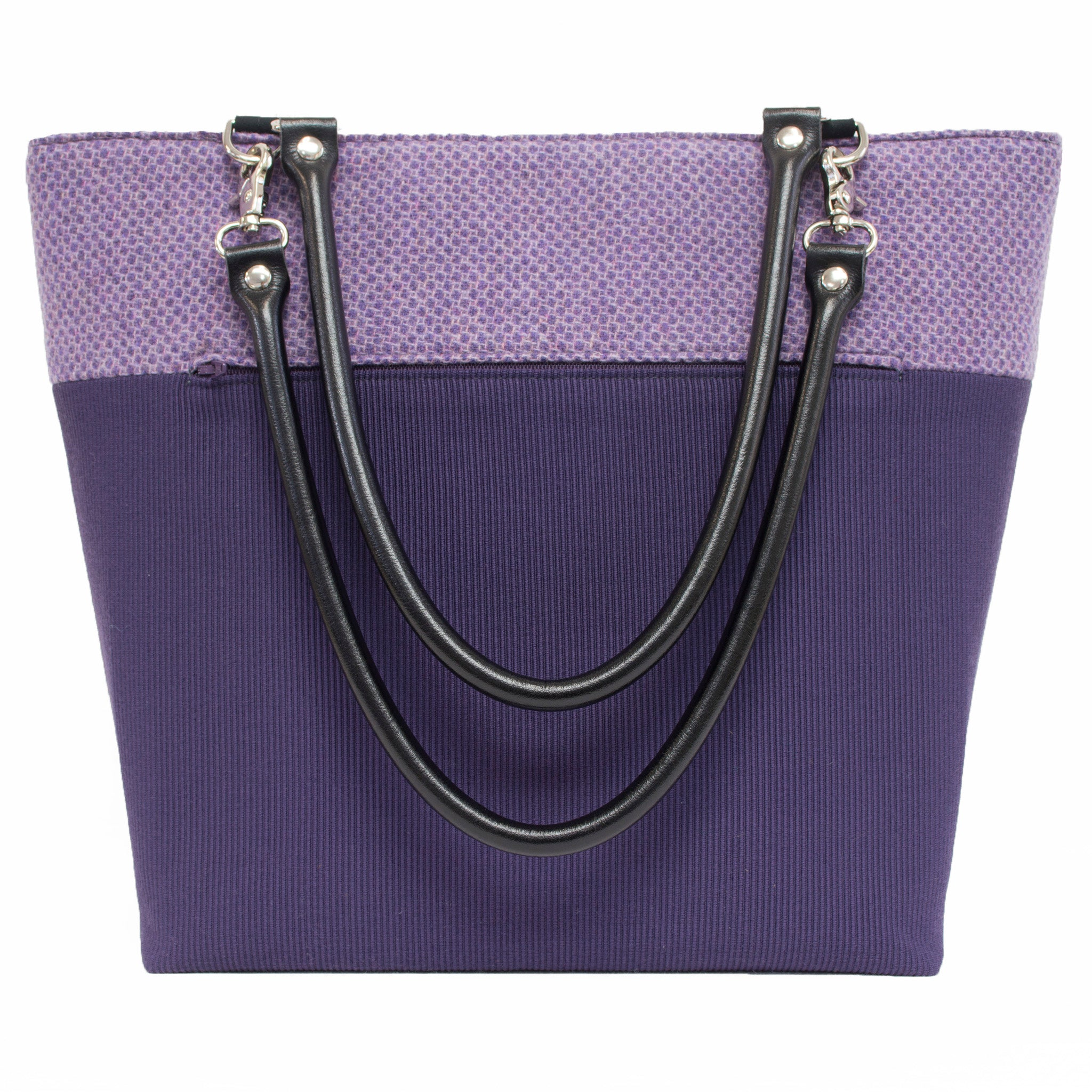 Purple Wool Handbag