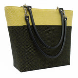 Yellow Honeycomb Wool Shoulder Bag