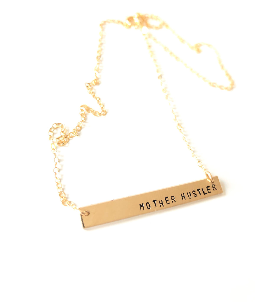 YOUR CHOICE Gold Bar Necklace (3 Choices)