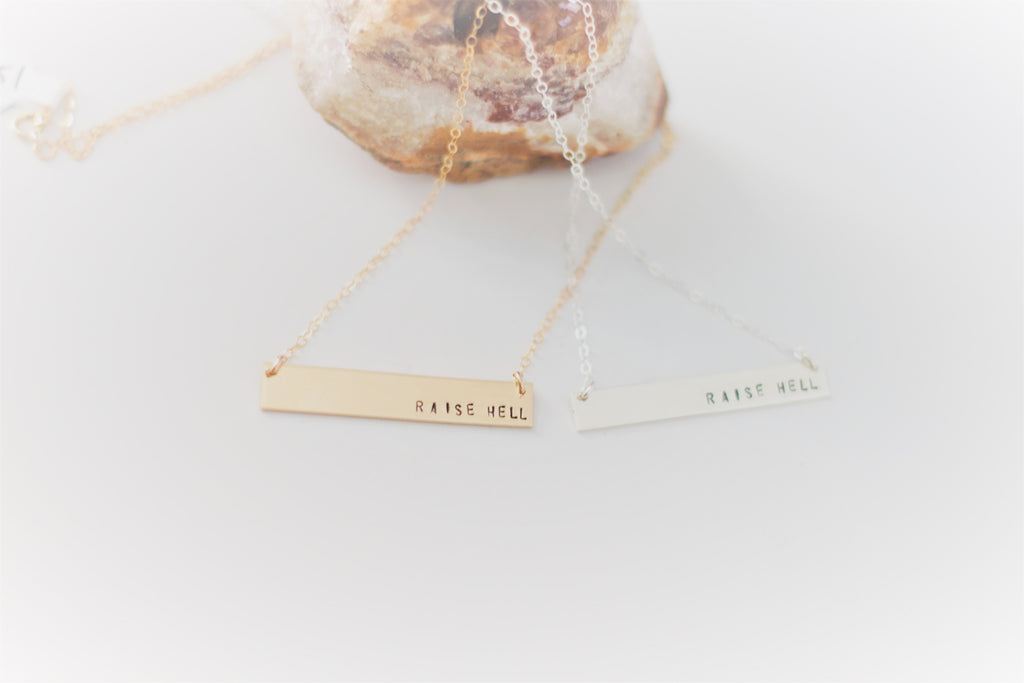 Raise Hell Bar Necklace