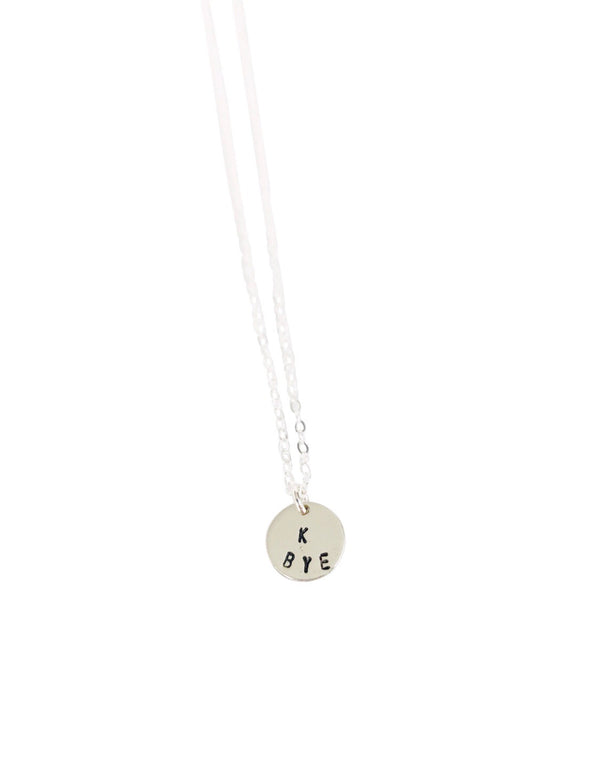 K Bye Circle Charm Necklace