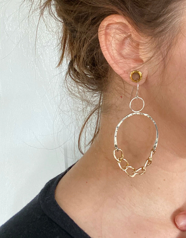 Gilian Chunky Chain Earrings
