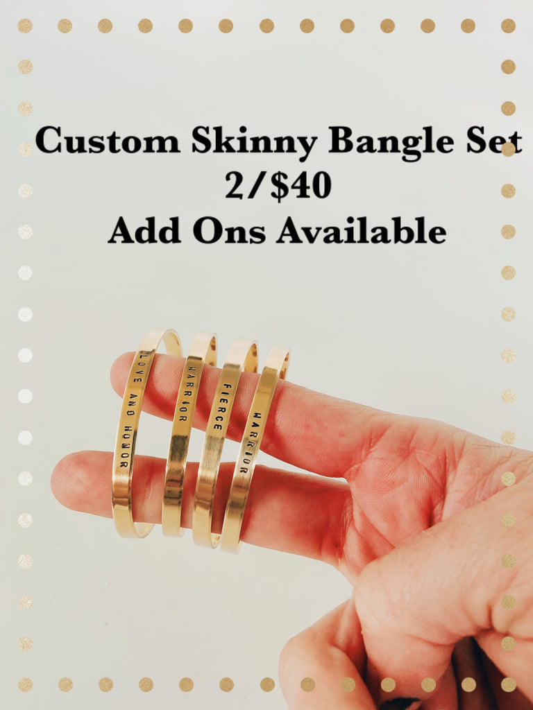 CUSTOM Skinny Bangle Set CREATE YOUR OWN SET