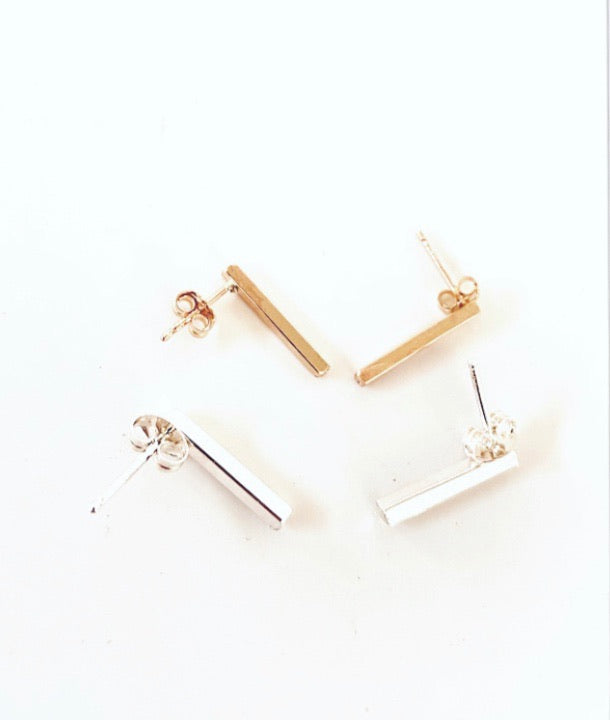Rectangle minimalist studs