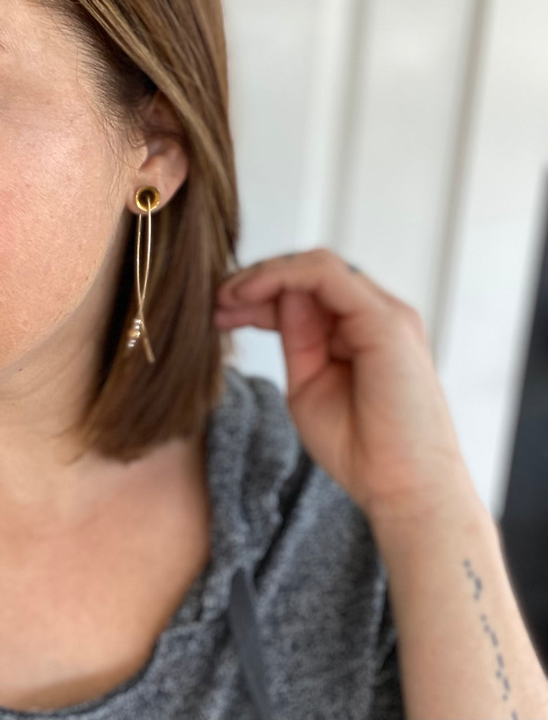Luciana Curved Earrings