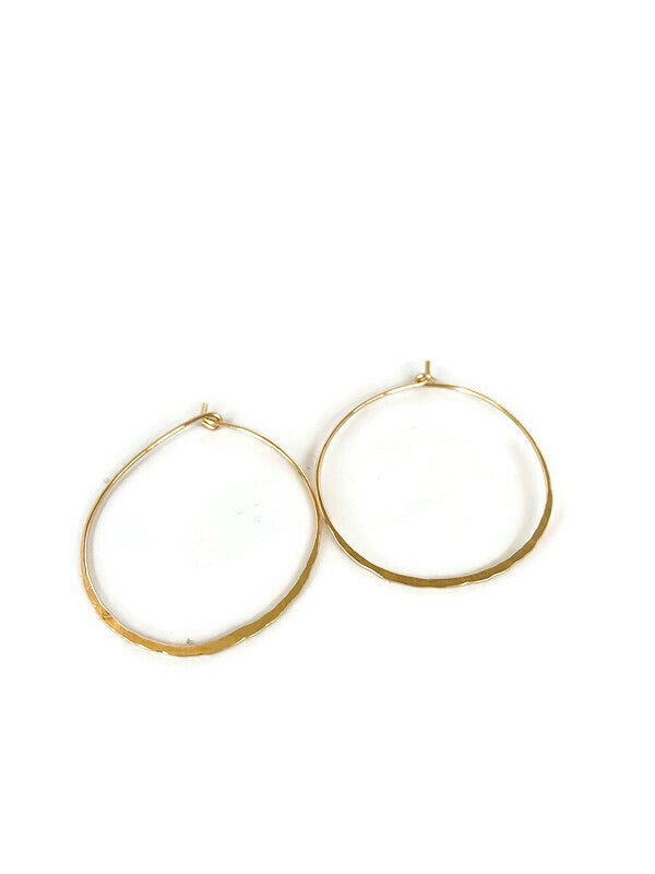 Ingrid Hammered Hoops