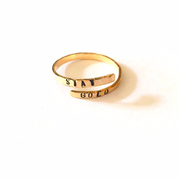 Stay Gold Gold Fill Wrap Ring 1