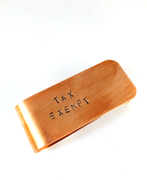 Tax Exempt Money Clip