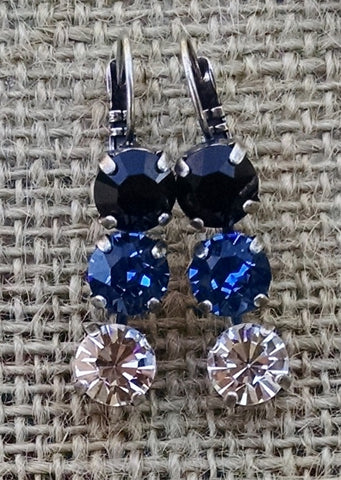 3 Tier Drop Earrings - 8mm Any Color / Any Finish