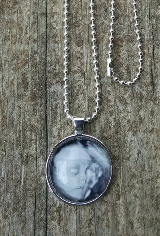 Photo Jewelry Necklace - Baby Sonogram, Children, Pets, Family, Friends