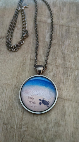 """Find Your Way"" Photo Jewelry Necklace"
