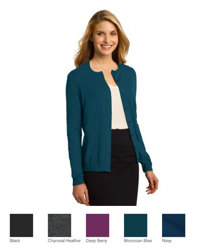 f728f8fa885 NEW  - LSW287 - Port Authority Ladies Cardigan Sweater – BEVCOMM SHOP