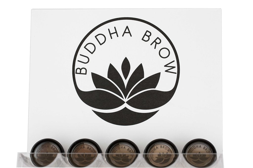 Buddha Brow Eyebrow Powder Display for Retail