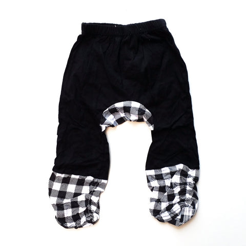 Casual Cotton Black Baby Pants - Unisex