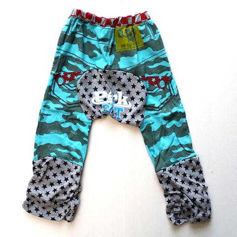 Blue Camo Casual Cotton Baby Pants