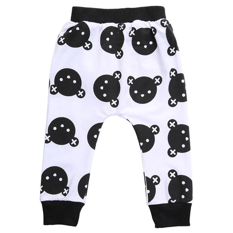 Black Bear Print Baby Pants