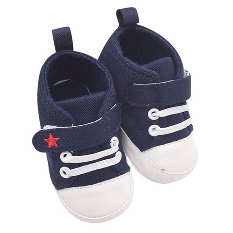 Canvas High Top Soft Sole Baby Sneakers