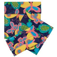 Set of 3 Reusable Snack Bags - Butterfly