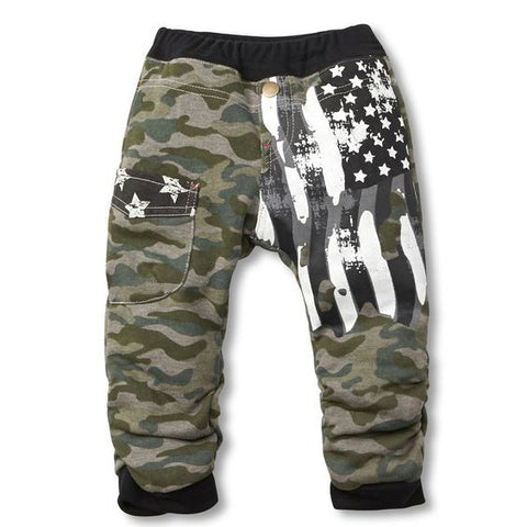 Organic Cotton Camo Baby Pants - Unisex