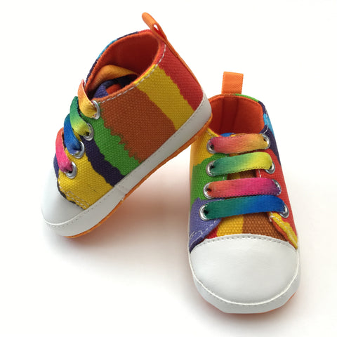 Rainbow High Top Baby Sneakers
