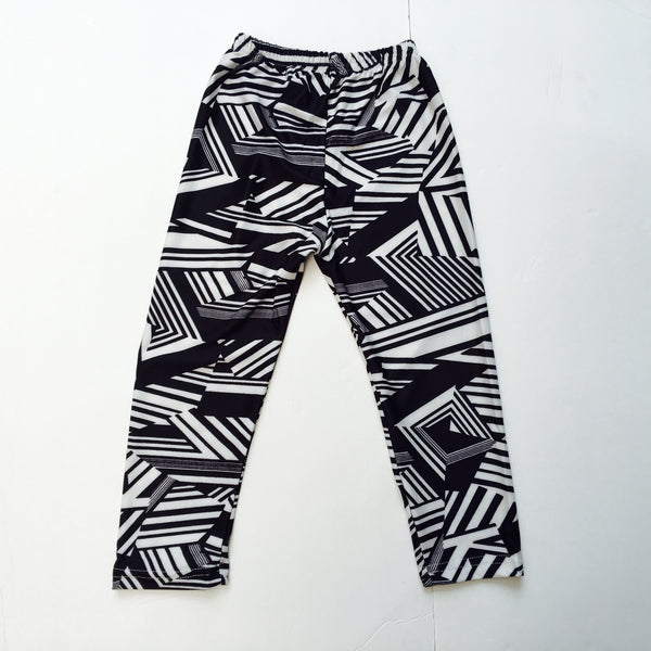 Black and White Geometric Print Baby Leggings