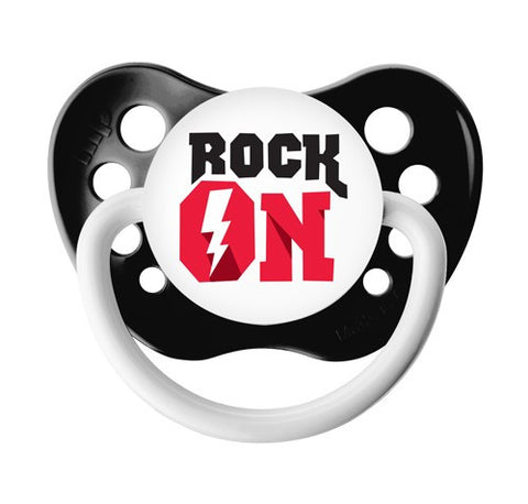 Rock On Pacifier with Protective Cap