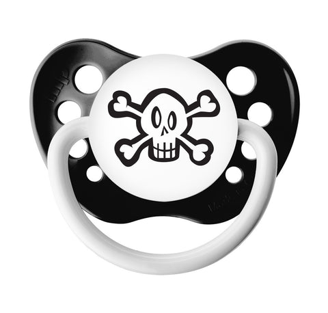Skull & Crossbones Pacifier with Protective Cap