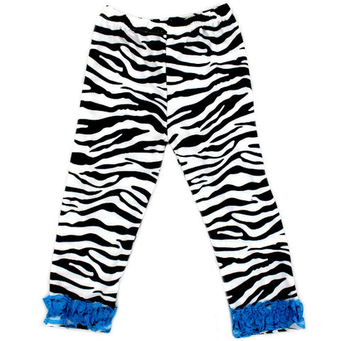 Zebra Print Ruffled Baby Leggings