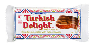 Real Turkish Delight Chocolate Coated Twin Pack - Rose 55gm