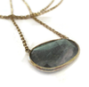 14K Solid Gold Labradorite  Solitaire Necklace - Sheri Beryl - 3