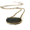 14K Solid Gold Labradorite  Solitaire Necklace - Sheri Beryl - 2