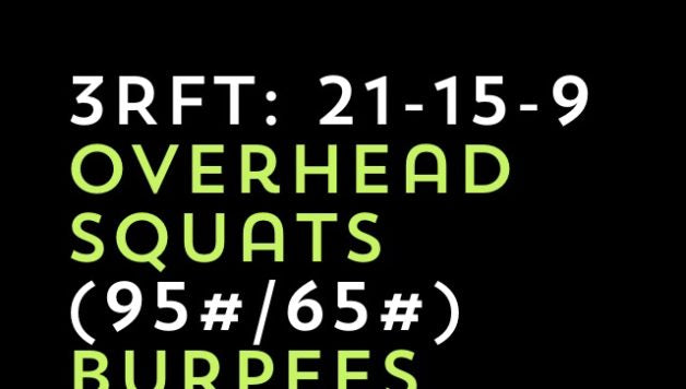 Workout of the Day: Overhead Squats & Burpees