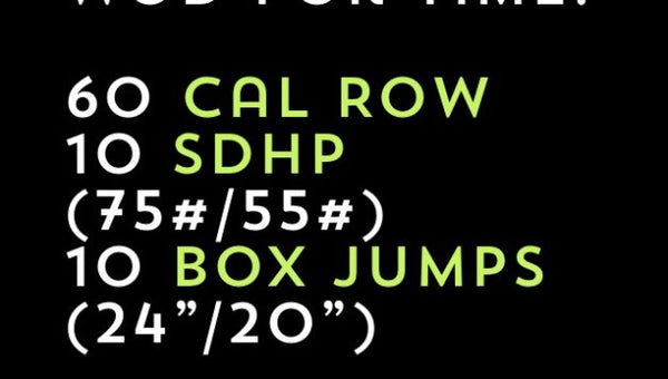 Workout of the Day: Row, Deadlift, & Box Jumps for Time