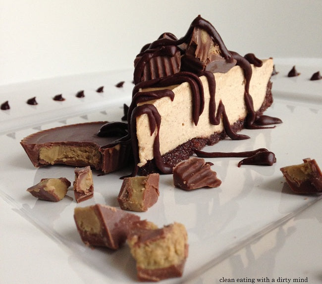 "Paleo ""Reese's"" Cheesecake with Fauxreo Crust – Paleo Recipe"