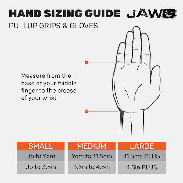 JAW Grips Sizing Chart