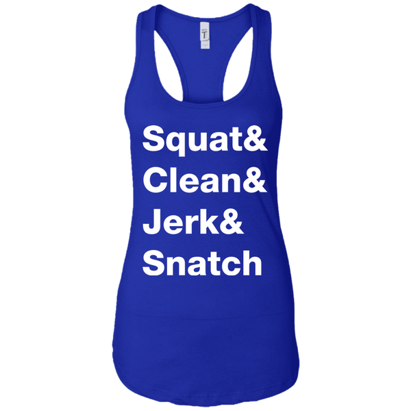 Squat & Clean & Jerk & Snatch Women's Tank