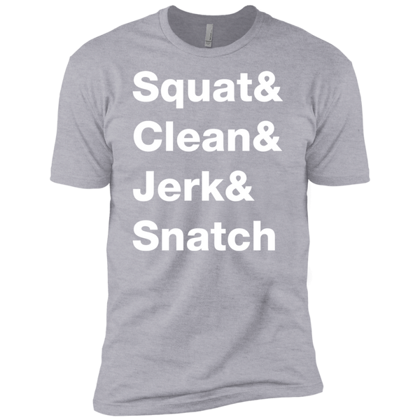 Squat & Clean & Jerk & Snatch Men's T-Shirt