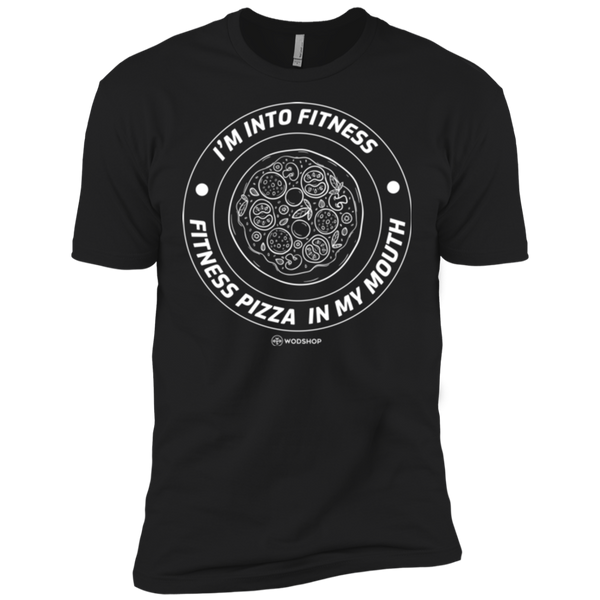 I'm Into Fitness... Fitness Pizza In My Mouth Men's T-Shirt