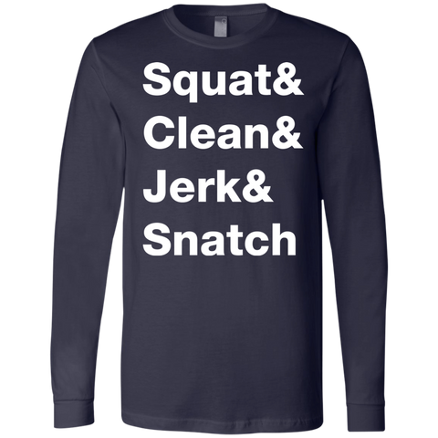 Squat & Clean & Jerk & Snatch Long Sleeve