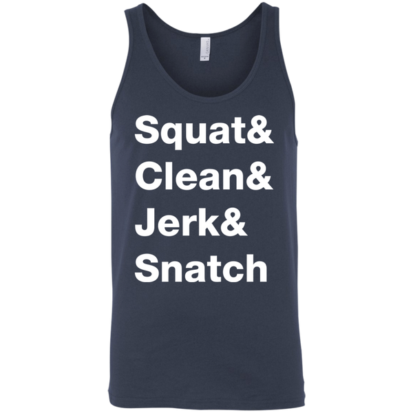 Squat & Clean & Jerk & Snatch Men's Tank