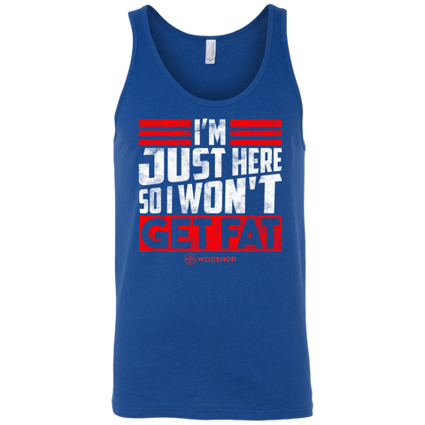 I'm Just Here So I Won't Get Fat Men's Tank