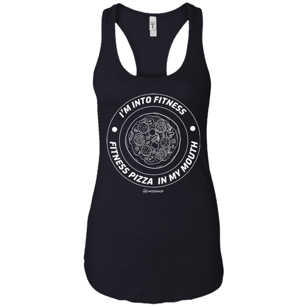 I'm Into Fitness... Fitness Pizza In My Mouth Women's Tank
