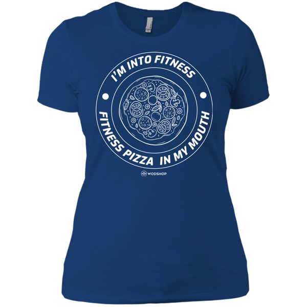 I'm Into Fitness... Fitness Pizza In My Mouth Women's T-Shirt