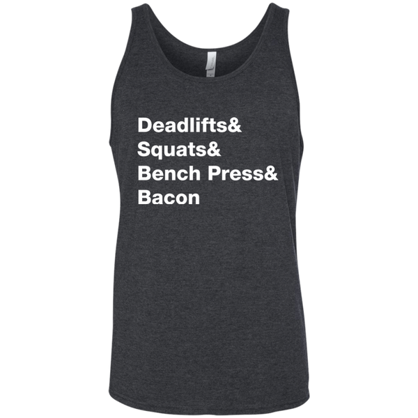 Deadlifts & Squats & Bench Press & Bacon Men's Tank