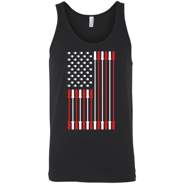 Barbell Flag Men's Tank