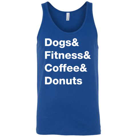 Dogs & Fitness & Coffee & Donuts Men's Tank