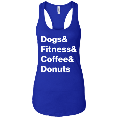 Dogs & Fitness & Coffee & Donuts Women's Tank