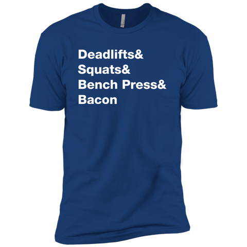 Deadlifts & Squats & Bench Press & Bacon Men's T-Shirt